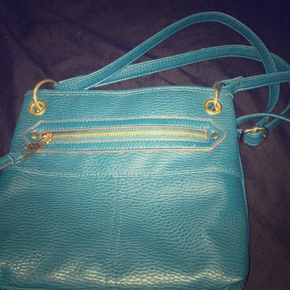 Handbags - A teal crossbody bag